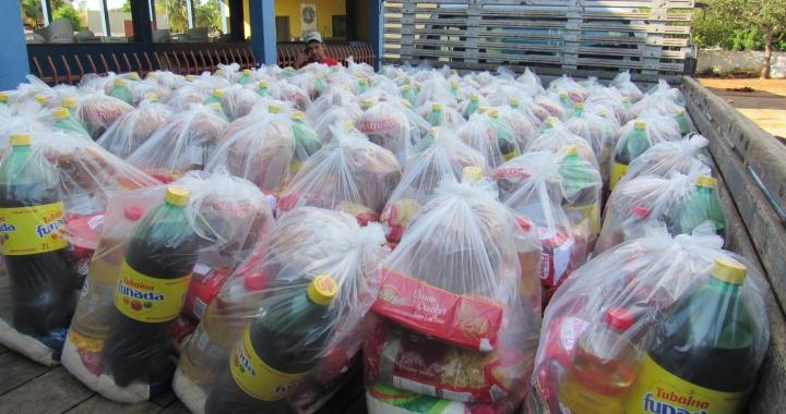Lions Clube de Juara recebeu na manhã desta segunda feira 17, as cestas de alimentos para famílias carentes.