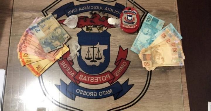 Guarantã: Homem é preso com 13 trouxinhas de pasta base no Bairro Santa Marta