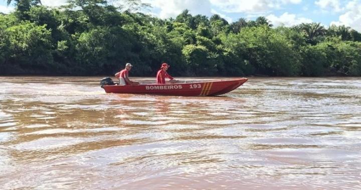 Novo Mundo: Bombeiros fazem busca por homem que está desaparecido em rio desde o dia 06 deste mês