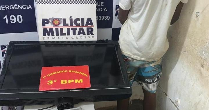 Tia denuncia sobrinho de 15 anos que guardava objetos roubados na casa dela em Cuiabá