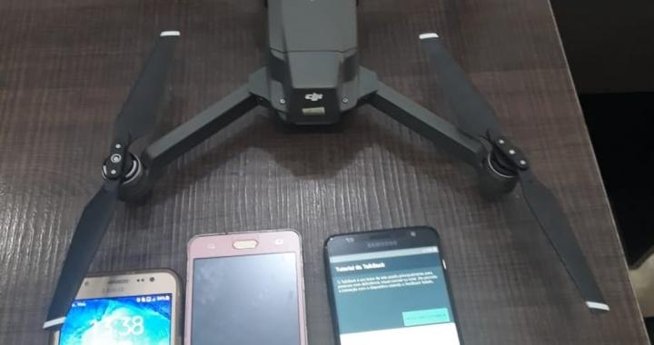 Agentes apreendem 7º drone sobrevoando presídio com celulares neste ano em MT