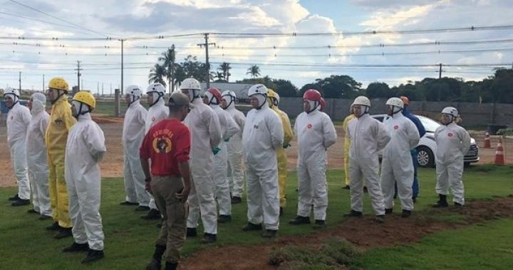 Município de MT começa processo de desinfecção em locais públicos contra o coronavírus