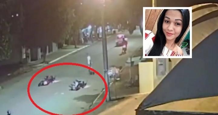 Vídeo mostra acidente entre duas motos que matou jovem de 23 anos