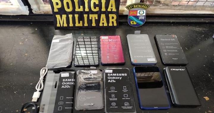 Polícia prende 02 e recupera 09 celulares roubados em Porto dos Gaúchos.
