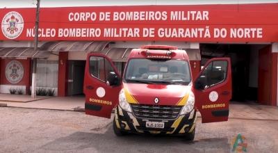 Um jovem sofreu um acidente de bicicleta na área central de Guarantã do Norte.
