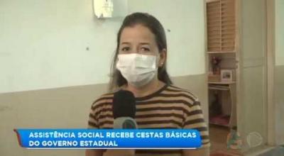 ASSISTÊNCIA SOCIAL RECEBE 200 CESTAS BÁSICAS DO GOVERNO ESTADUAL