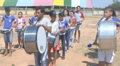 ENSAIOS DA FANFARRA PARA O DESFILE CÍVICO DE 07 DE SETEMBRO