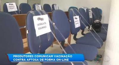 PRODUTORES COMUNICAM VACINAÇÃO CONTRA AFTOSA DE FORMA ON-LINE