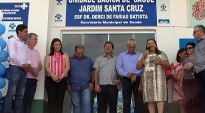 INAUGURAÇÃO DA UNIDADE BÁSICA DE SAÚDE DO BAIRRO SANTA CRUZ MARCOU ANIVERSÁRIO DE 37 ANOS DE JUARA