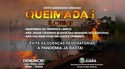 CORPO DE BOMBEIROS ESTARÃO AUXILIANDO JUARA NO PERÍODO DE QUEIMADAS