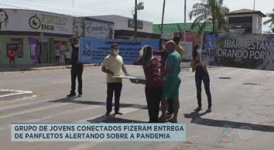 GRUPO DE JOVENS CONECTADOS FIZERAM ENTREGA DE PANFLETOS ALERTANDO SOBRE A PANDEMIA
