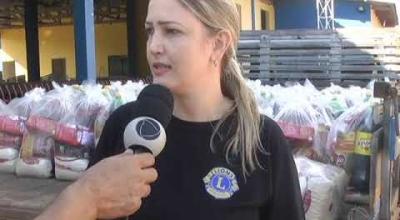 LIONS CLUBE DE JUARA RECEBEU NESTA SEGUNDA FEIRA 17, AS CESTAS DE ALIMENTOS PARA FAMÍLIAS CARENTES