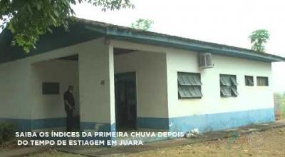 SAIBA OS ÍNDICES DA PRIMEIRA CHUVA DEPOIS DO TEMPO DE ESTIAGEM EM JUARA