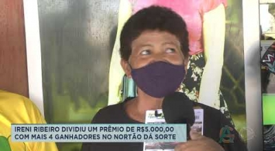 IRENI RIBEIRO DIVIDIU UM PRÊMIO DE R$5.000,00 COM MAIS 4 GANHADORES NO NORTÃO DÁ SORTE