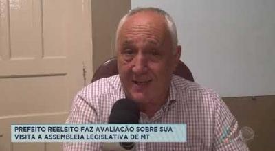 PREFEITO REELEITO FAZ AVALIAÇÃO SOBRE SUA VISITA A ASSEMBLEIA LEGISLATIVA DE MT