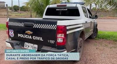 DURANTE ABORDAGEM DA FORÇA TÁTICA, CASAL É PRESO POR TRÁFICO DE DROGAS